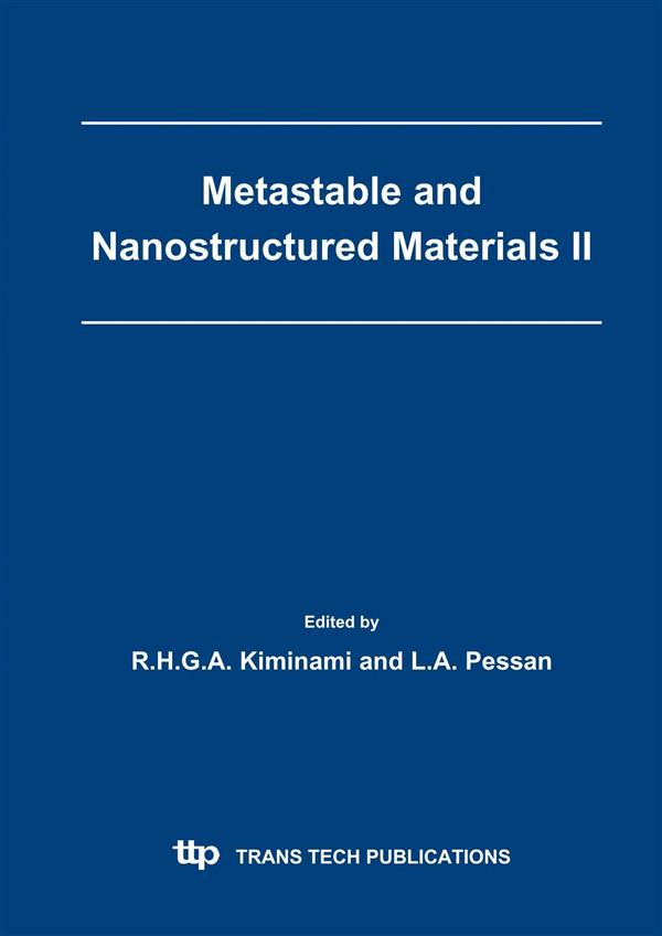 Metastable and Nanostructured Materials II