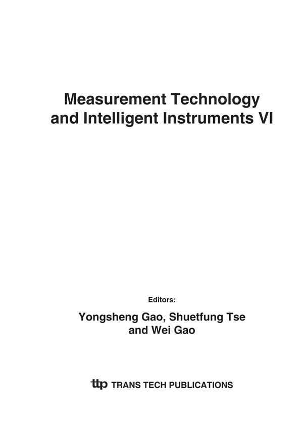 Measurement Technology and Intelligent Instruments VI