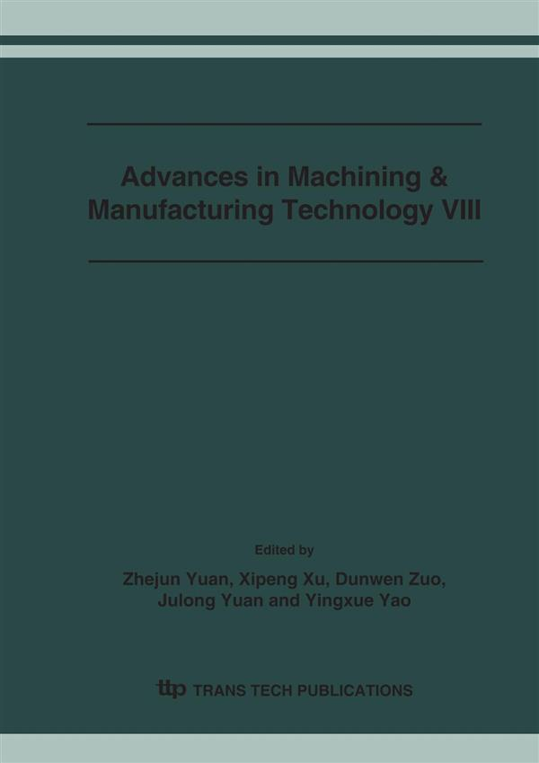 Advances in Machining & Manufacturing Technology VIII