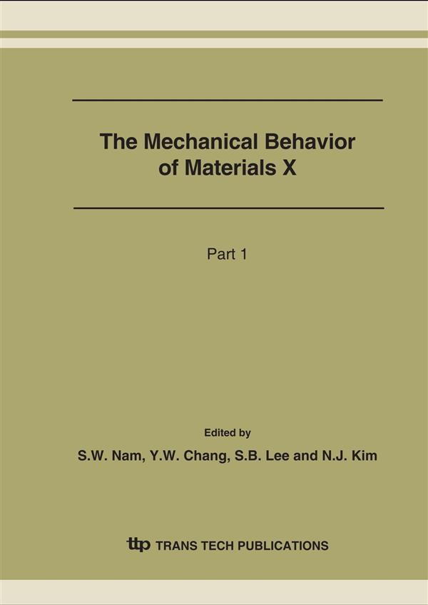 The Mechanical Behavior of Materials X