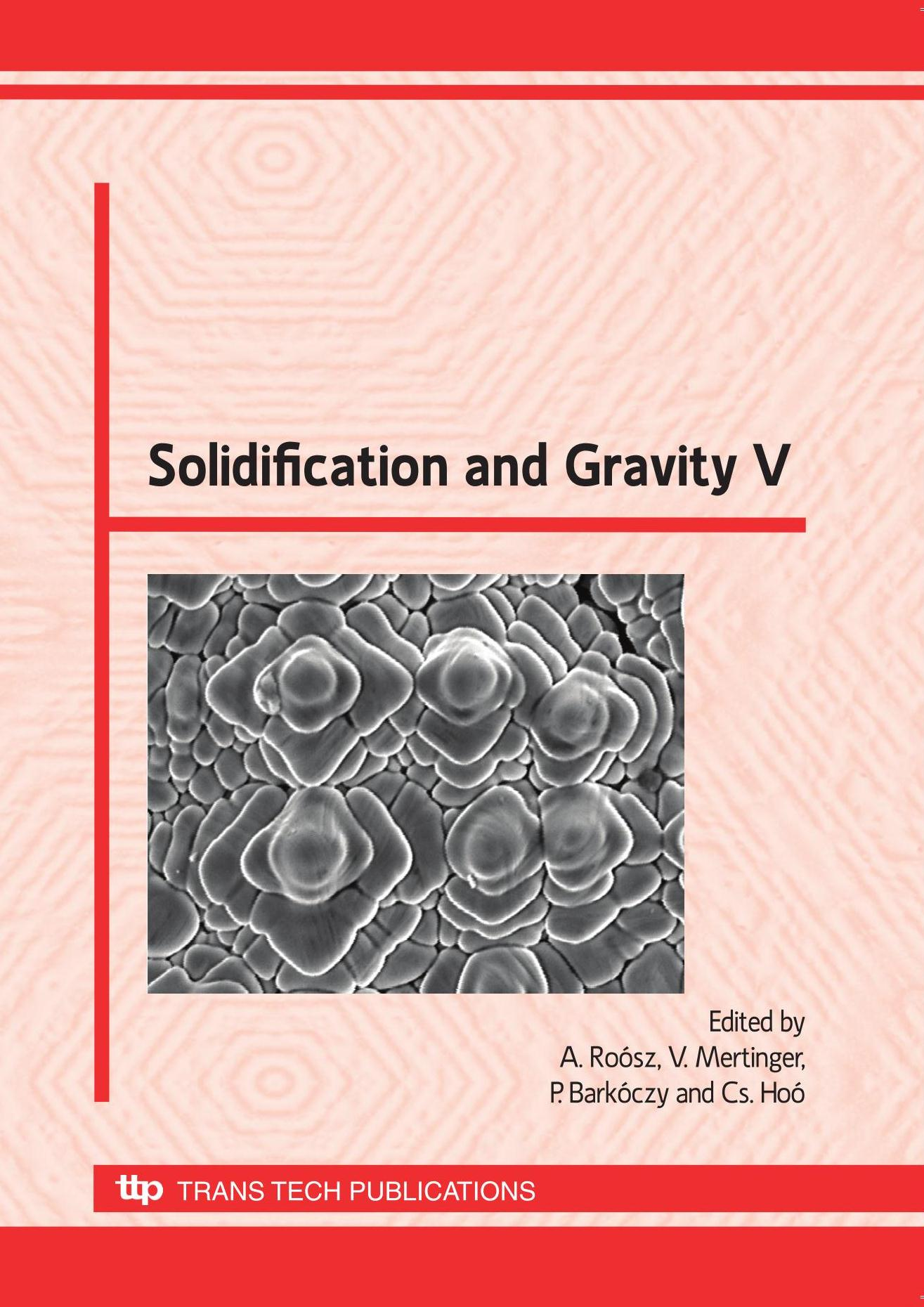 Solidification and Gravity V