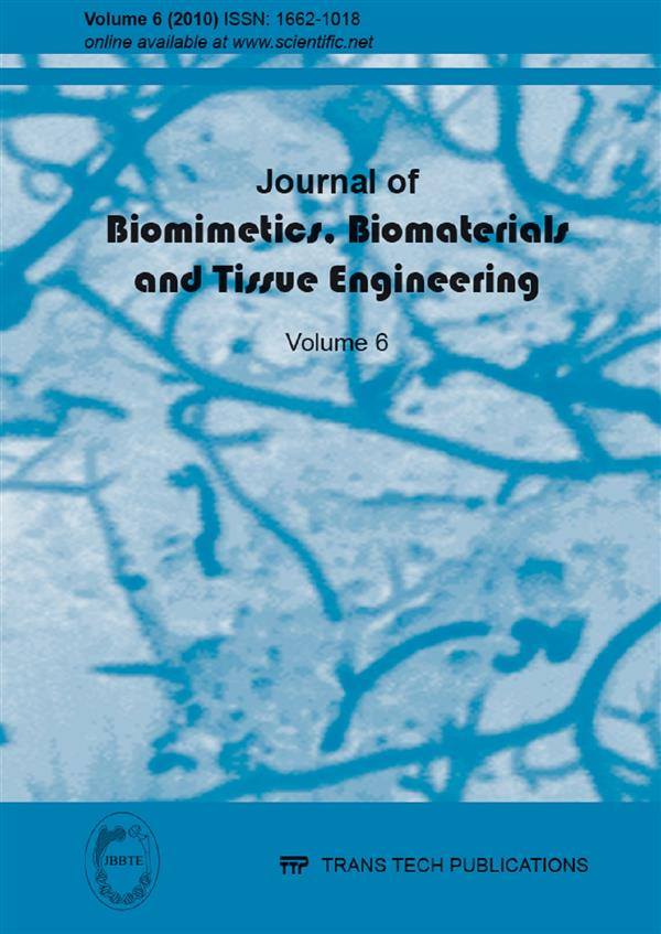 Journal of Biomimetics, Biomaterials and Tissue Engineering Vol.6