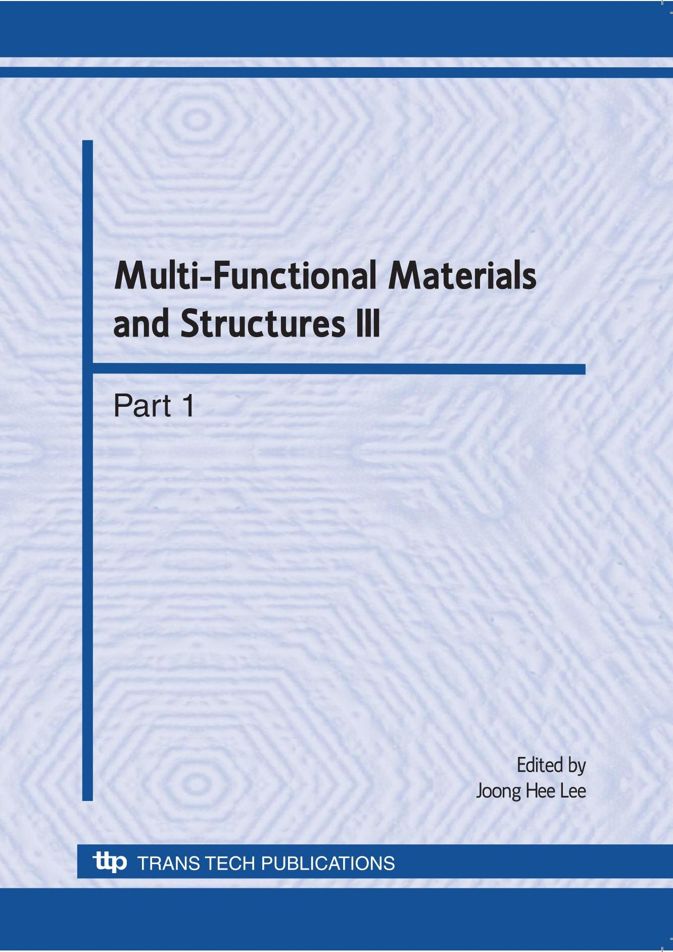 Multi-Functional Materials and Structures III